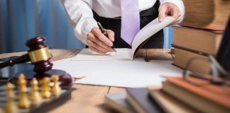 lawyer working with paperwork