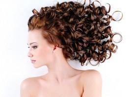 woman beautiful long curly hair