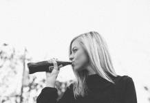 drinking soft drink
