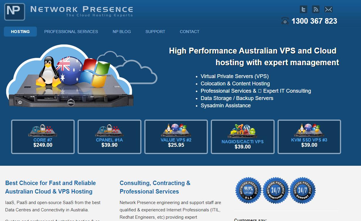 network presence VPS hosting