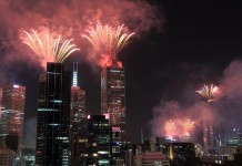 melbourne new year fireworks
