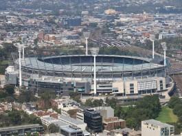 Melbourne cityscape and Melbourne Cricket Ground Australia