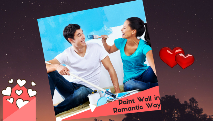 paint wall in romantic way