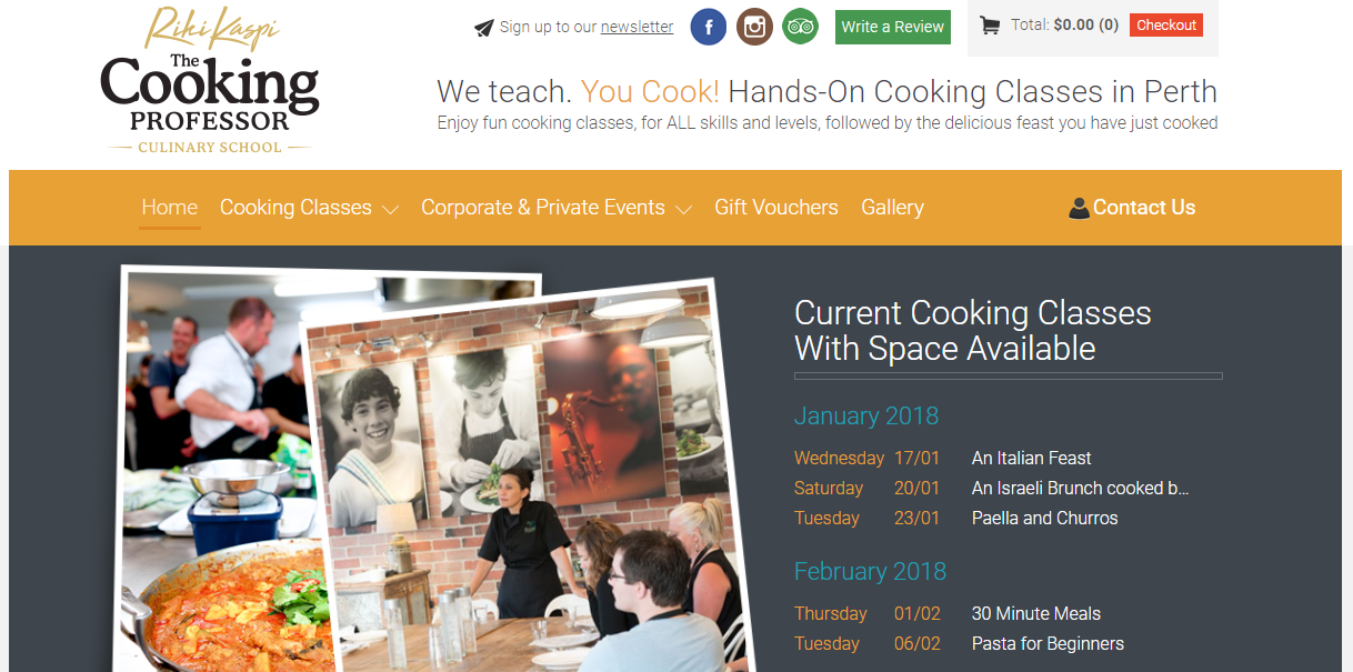 best cooking classes in perth