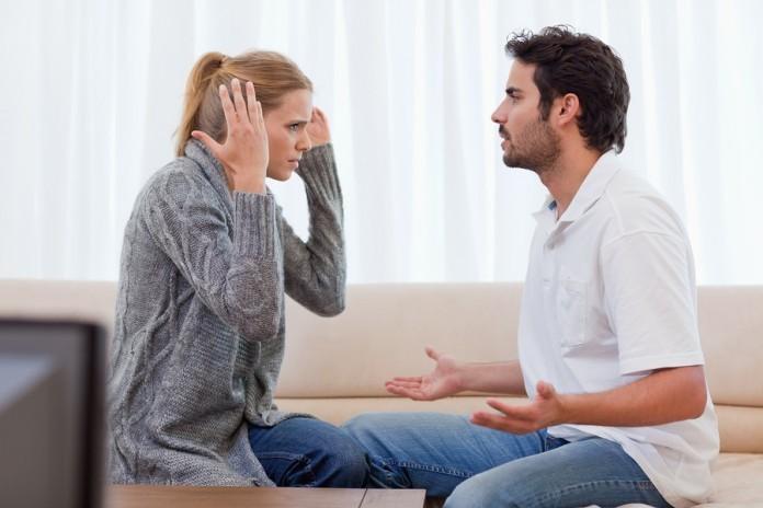 divorce couple arguing