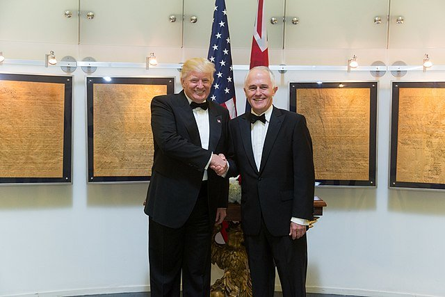 President Donald Trump meeting with Australian Prime Minister Malcolm Turnbull in New York City - May 4th 2017, Photo by Shealah Craighead, via Wikimedia Commons