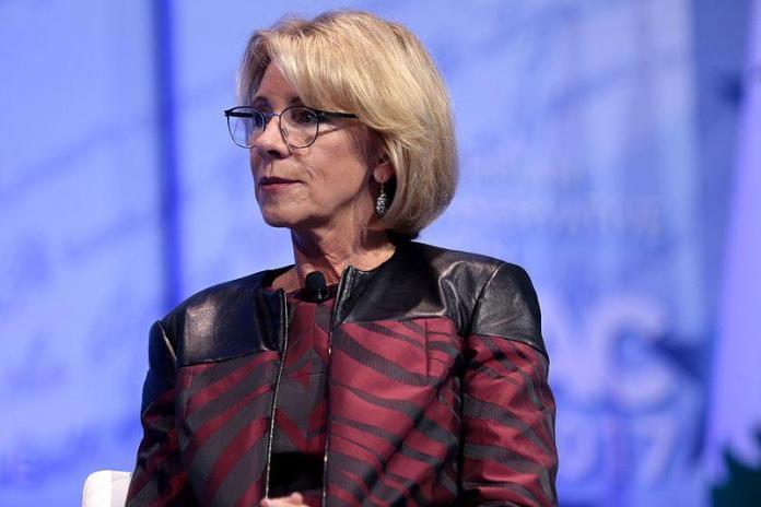 Trump's education secretary faces public backlash