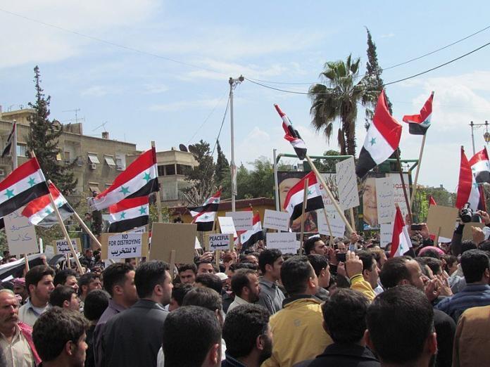 Syria protesters douma nerve agent attack