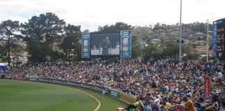 Cricket crowd in Tasmania
