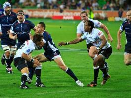 Super Rugby game between Rebels and Sharks