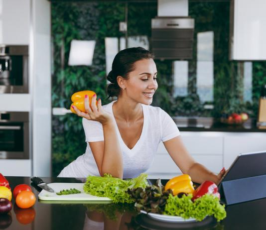 Young woman dieting
