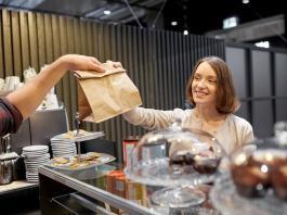 doogy bag for cafe food france french