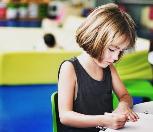 Girl child at school