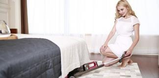 Woman home cleaning