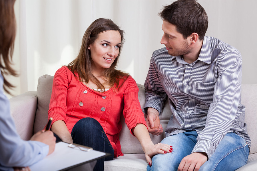 Young marriage are happy again after special therapy