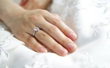 Choosing an engagement ring with a diamond cut and clarity