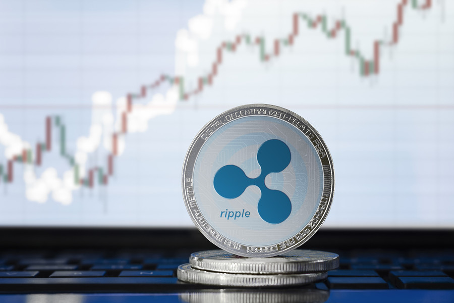 Ripple (xrp) Cryptocurrency; Physical Concept Ripple Coin On The