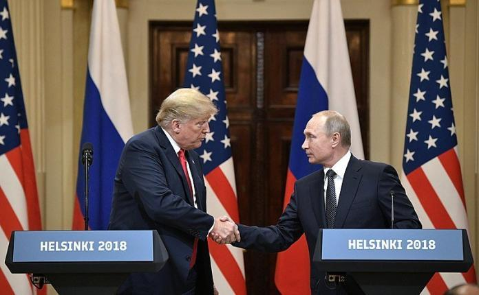 Donald Trump sides with Putin in denial of US election meddling