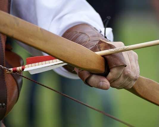 Archer with a bow and arrow