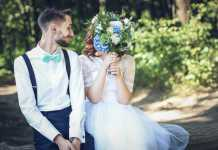 Happy couple wedding photo