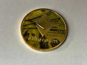 Ethereum Coin on a table