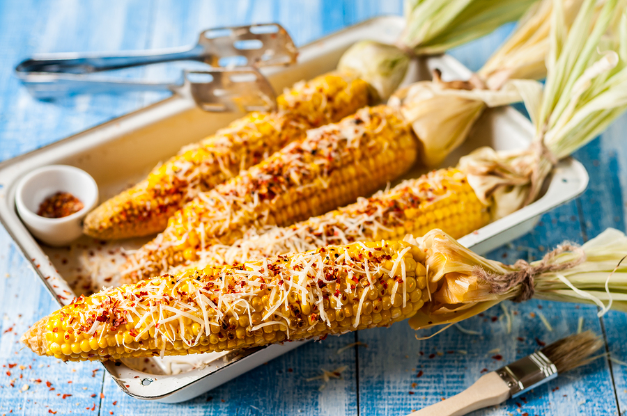 Chili and Cheese Grilled Corn on Cob