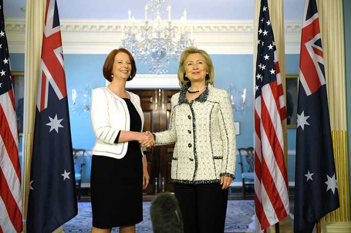 Julia Gillard has official portrait unveiled in Parliament