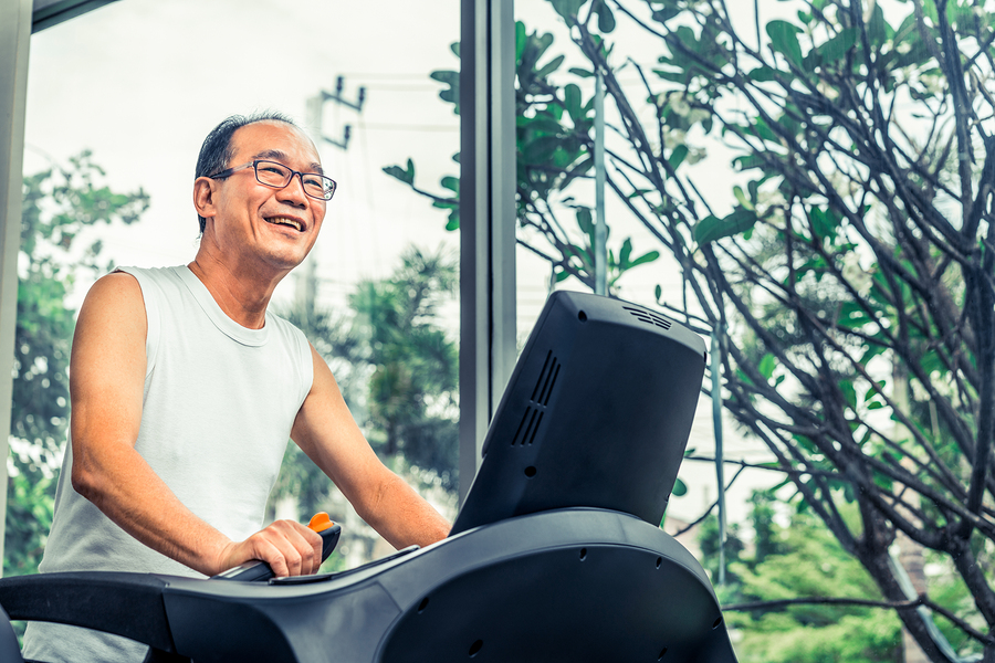 Why are treadmill exercises ideal for senior citizens