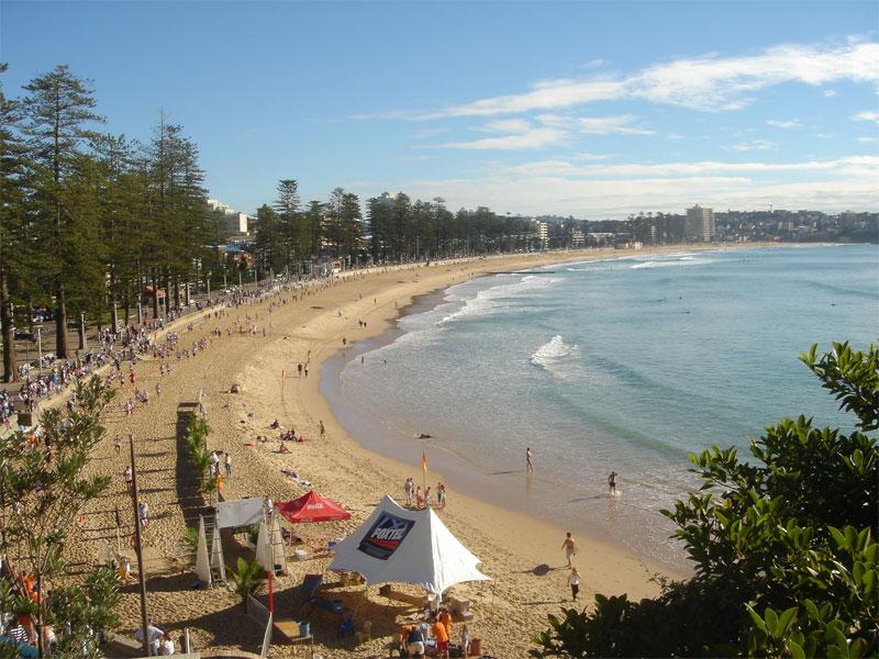 Manly beach in Sydney
