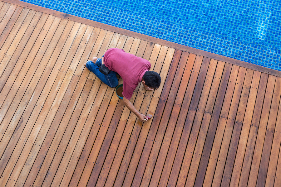 Pay attention to treating a new deck with special care