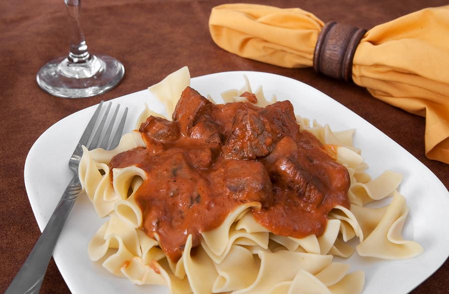Beef stroganoff dish recipe