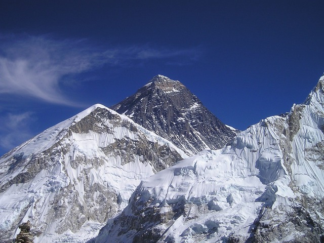 Ground level shot of Mount Everest.