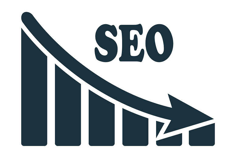 SEO ranking begins to decline