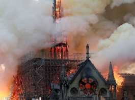 France's world-famous Notre Dame cathedral in Paris has been engulfed by fierce blaze which caused the building's spire to collapse.