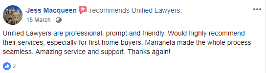 Facebook review Unified Lawyers