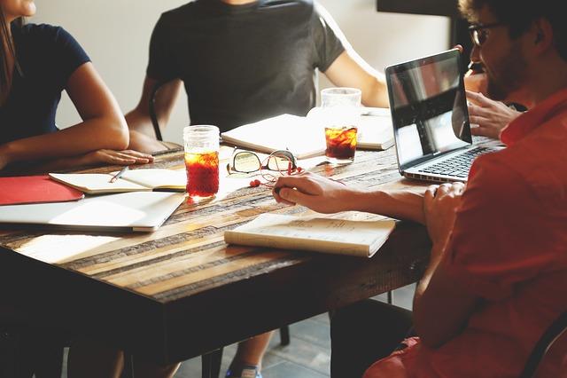 Start-up firm meeting