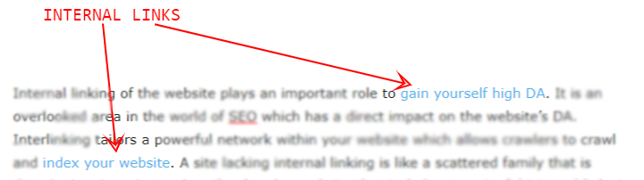 internal links example
