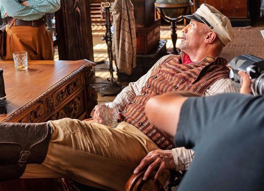 Dwayne Johnson posts behind-the-scenes pic of 'Jungle Cruise'