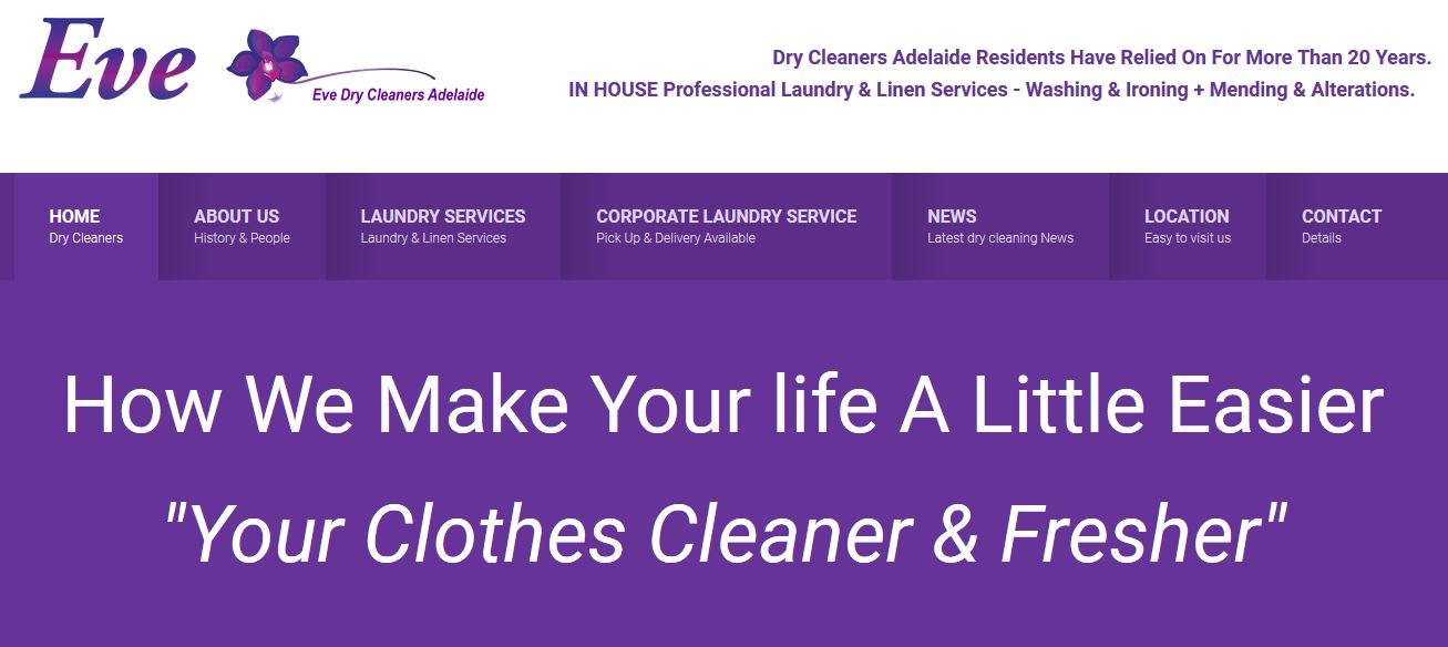 Eve Dry Cleaners Adelaide
