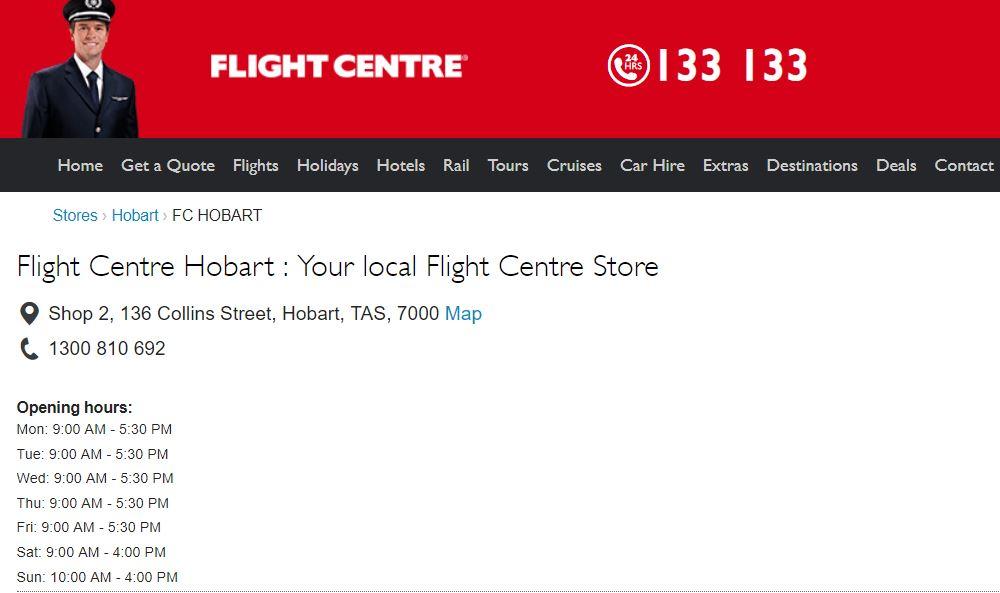 Flight Centre Hobart