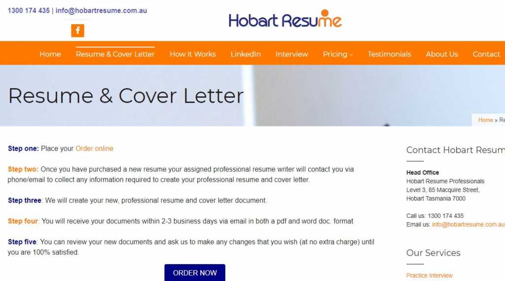 Hobart Resume