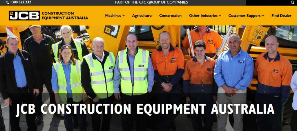 JCB Construction Equipment Australia