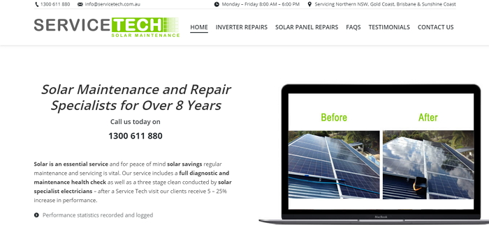 Service Tech Solar Maintenance