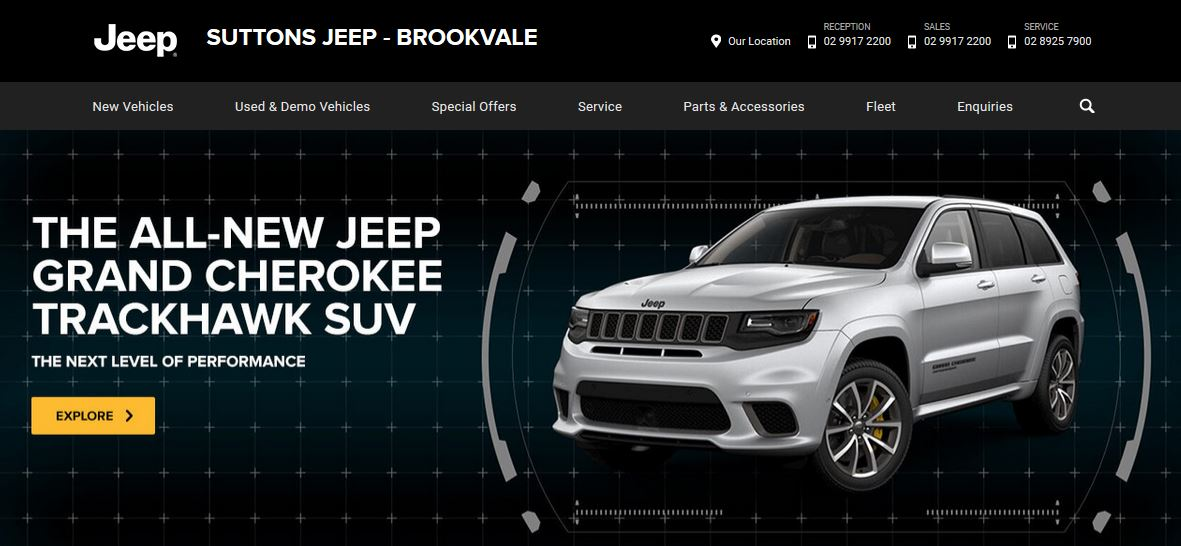 Suttons Brookvale Jeep