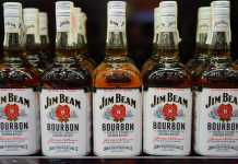Jim Beam's Kentucky warehouse and 45,000 barrels of bourbon engulfed by flames