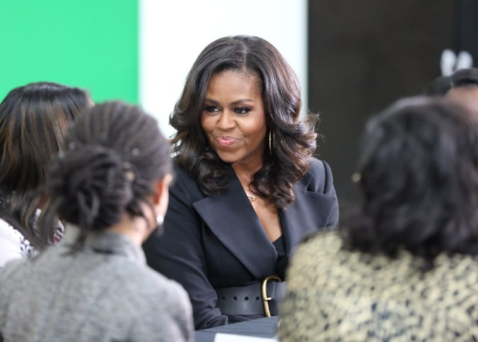 """Michelle Obama's parenting advice to Meghan Markle: """"savor it all"""""""