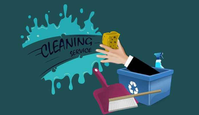 Cleaning service signage