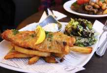 Fried Fish and Chips.