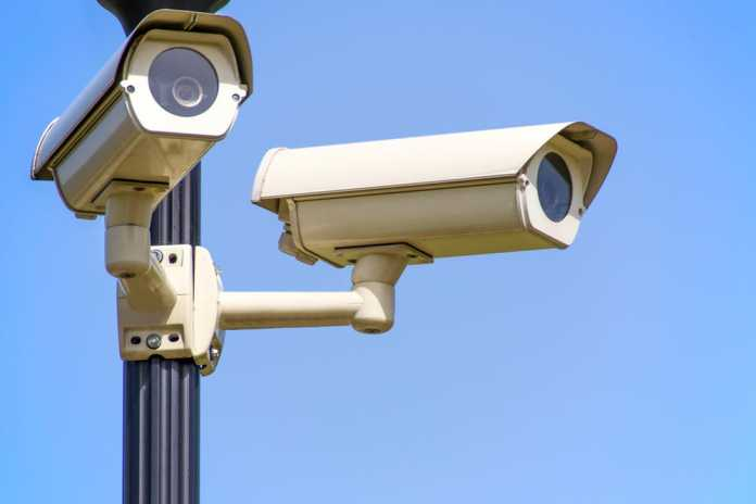 Two CCTV Cameras mounted on a post.