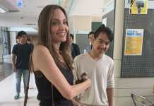 Angelina Jolie makes rare public appearance, sends Maddox off to college